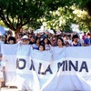 Logo Represión en la Cumbre Minera #Telsen #Chubut