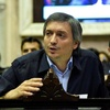 """Logo Maximo Kirchner, presidente del bloque del """"Frente de Todos"""" en diputados."""