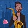 """Logo """"El saxo fue mi 1er. amor musical"""" Armando Goyo en ACCESO ILIMITADO"""