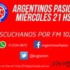 Logo Ezequiel Garré en Argentinos Pasión 25 de Mayo de 2016