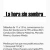 Logo  La hora sin sombra ● Segundo bloque 28/10/17
