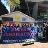 Logo Mujeres Sindicalistas | Encuentro de trabajadoras en apoyo a conductoras de Trolebus en Córdoba