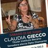 """logo Claudia Gieco en Cazadores:""""Pretendo representar fuertemente los derechos de la mujer"""""""