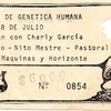 "Logo El festival de la Genetica humana (1978), debut de Seru Giran por Jorge ""Monitor"" Rodriguez."