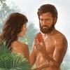 """Logo """"¿Fue Eva o Adán el insitador?"""""""