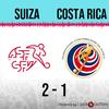 Logo Gol de Suiza: Suiza 2 - Costa Rica 1 - Relato de @monumentalcr