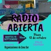 Logo Isabel Mamani convoca RADIO ABIERTA Martes 15 de setiembre 10am