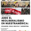 Logo Arde el neoliberalismo en Nuestramérica y Cumbre de Países no Alineados