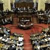 Logo Actitudes infantiles en la asunción del Parlamento