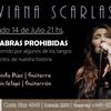 Logo Entrevista a Viviana Scarlassa presentando su espectáculo Palabras Prohibidas