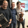 Logo El bandoneonista Juan P.Jofré, y Francisco Fullana en violín en CNN Radio