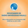 Logo Micro SEU - UNR en Radio Universidad - Programa ABC Universidad - Lunes 27 de Junio - 2016.