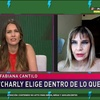 Logo Fabiana Cantilo alejada de Charly García