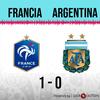 Logo Gol de Francia: Francia 1 - Argentina 0 - Relato de @wradiomexico