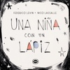 Logo Una niña con un lápiz, Editorial Limonero, por Silvia Bacher para Rayuela, en Radio con vos 89.9.