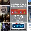 Logo #ResistenciaADesaparecer estreno simultáneo y colectivo Sab 30/09