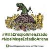 Logo NO AL MEGAESTADIO ARENA DE VILLA CRESPO