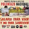 Logo POLENTAZO NACIONAL POR AUMENTO SALARIAL