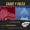 Logo SAQUE Y VOLEA PROGRAMA  12  DE ABRIL