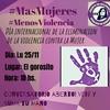 """Logo Conversatorio abierto, en marco al """"Día internacional de la violencia contra la mujer"""""""