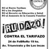 Logo Ruidazo contra el tarifazo. Viernes 24 de febrero de 2016, 19 horas. Triunvirato y De Los Incas