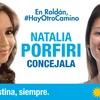 Logo Natalia Porfiri Pre Candidata a Concejala Unidad Ciudadana Roldan
