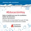 Logo Mariano Narodowski sobre el pedido para que los candidatos hablen de educación