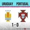 Logo Gol de Uruguay: Uruguay 1 - Portugal 0 - Relato de @970universal