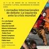 """Logo Fabián Harari sobre las I Jornadas Internacionales de Debate: """"La izquierda ante la crisis mundial"""""""
