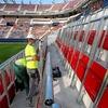 Logo Osasuna: los socios decidieron que su nuevo estadio tenga tribuna de pie