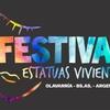 Logo 6º Festival de Estatuas Vivientes en Olavarria prov. de Buenos Aires dialogo con Maria Ines Banegas