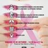 Logo Evento Fuerza Rosa: octubre es el mes de la sensibilización mundial del cáncer de mama.