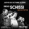 Logo Diego Schissi invita a lxs oyentes de Revuelto de radio a los conciertos de su quinteto en Virasoro