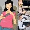 Logo Mujeres embarazadas, manejar sí, pero, siempre con el cinturón de seguridad
