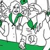 Logo Nahuel Torcisi de la Campaña por el #AbortoLegalYa sobre la presentación del proyecto.