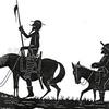 """Logo Editorial de Carlos Polimeni """"Don Quijote está vivo y viene cabalgando"""""""