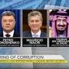Logo Mauricio Macri en el Foro de la OMC. Te presentamos el traductor de @nuestrasvocesok
