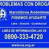 Logo Narcóticos Anónimos, una manera de aprender a vivir la realidad sin drogas