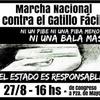 """Logo """"Yo no lucho por la sentencia, hoy lucho por la conciencia"""". Inés Alderete contra el Gatillo Fácil."""