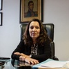 """Logo Cristina Caamaño (fiscal); """"No habrá persecución judicial porque Alberto es un hombre de derecho"""""""