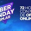 """Logo """"En los 3 días de CyberMonday se factura lo mismo que en 3 meses"""" Guillermo Montenegro CAMESE"""