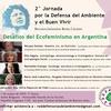 Logo Entrevista a Maria Jose Lubertino, Red de Defensoras del Ambiente y el Buen Vivir, y marcha 8M