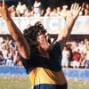 Logo 40 años del debut de Diego en Boca