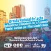 Logo Esteban ´Gringo´ Castro previo a la marcha por Tierra, Techo y Trabajo