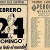 Logo 75 años del primer triunfo de la fórmula Perón-Quijano