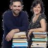 Logo Luciano Lamberti y Noelia Barral Grigera en Notas Al Pie, con Ana Correa y Gonzalo Heredia