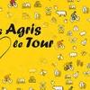 Logo El Tour de France 2019, lleno de mensajes de la agricultura.