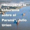 """Logo """"Las cerealeras quieren que el comercio exterior vaya a puertos uruguayos, sin control"""", Julio Urien"""