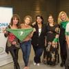 Logo Luisa Kuliok, Dolores Fonzi, Julia Amore y Muriel Santa Ana  hablando de la legalización del aborto