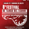 Logo Lucrecia Merico y Oscar De Elía con Luis Tarantino antes del 8vo Festival de Tango del ECuNHi